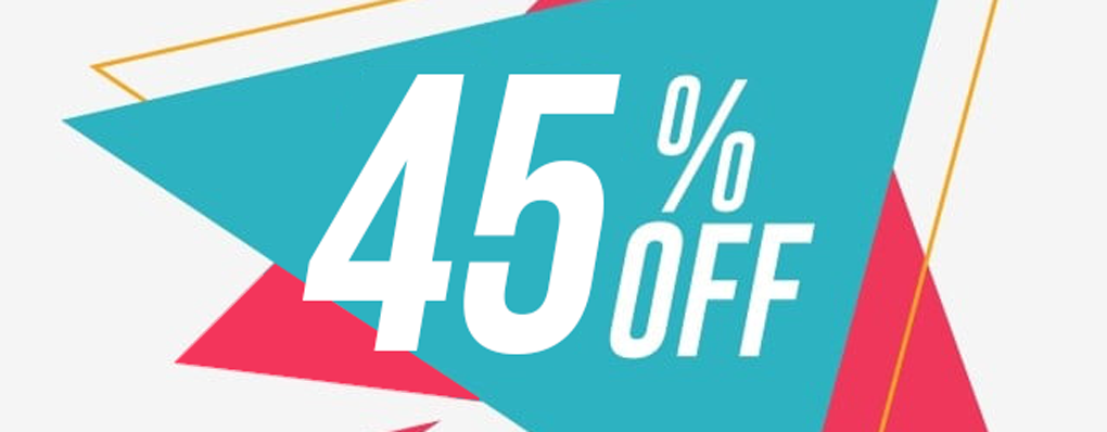 Promo 45% de réduction